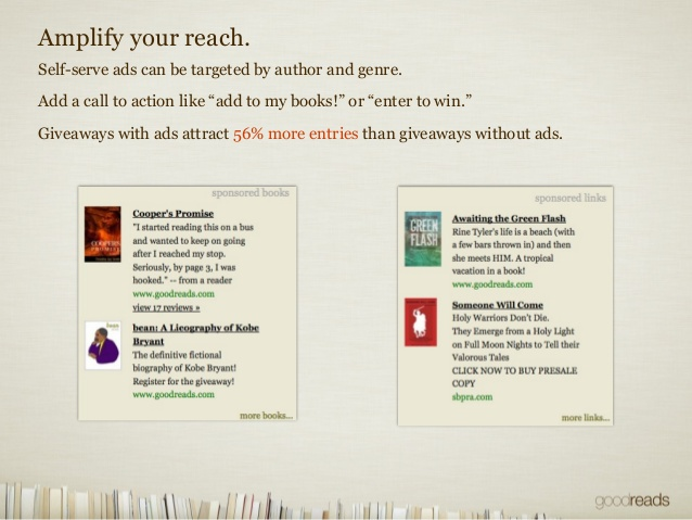 Goodreads ads for authors