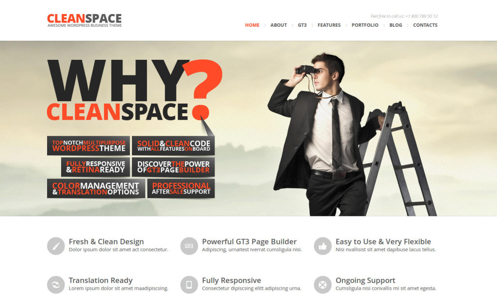 cleanspace theme for writers