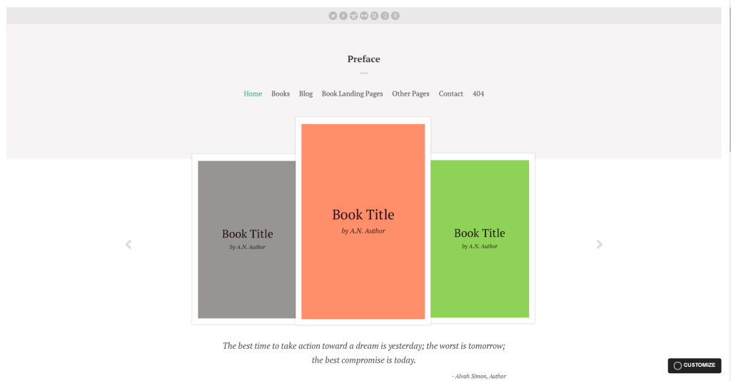 Wordpress Theme for Authors