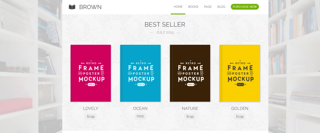 brown wordpress theme for writers and authors