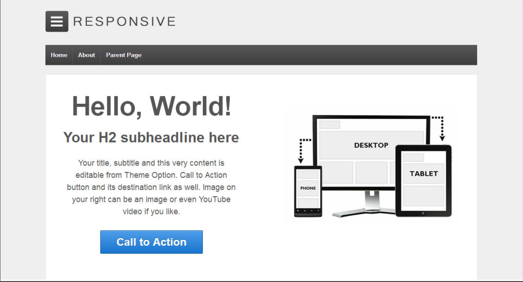 Responsive WordPress theme for writers and authors