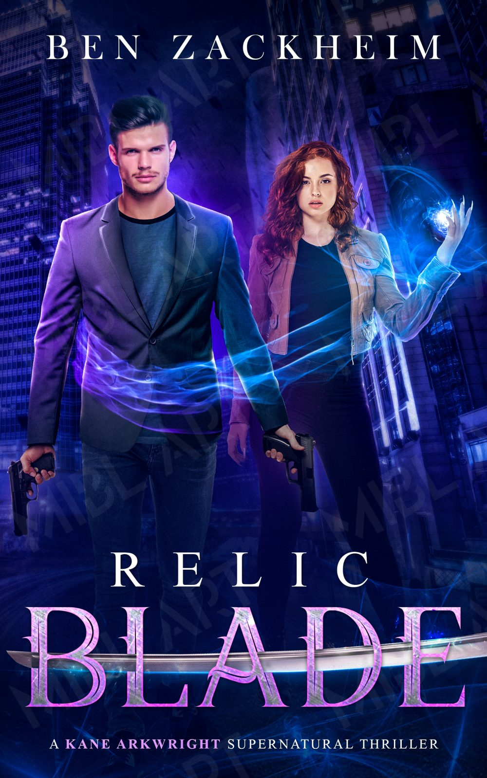 Image of cover to Relic Spear ebook in the supernatural thriller series on Amazon