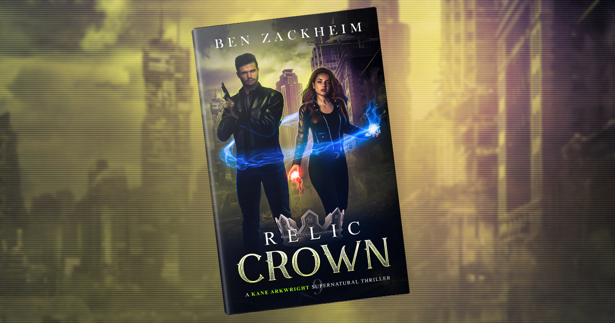 Cover of RELIC: CROWN with Kane and Rebel ready to battle