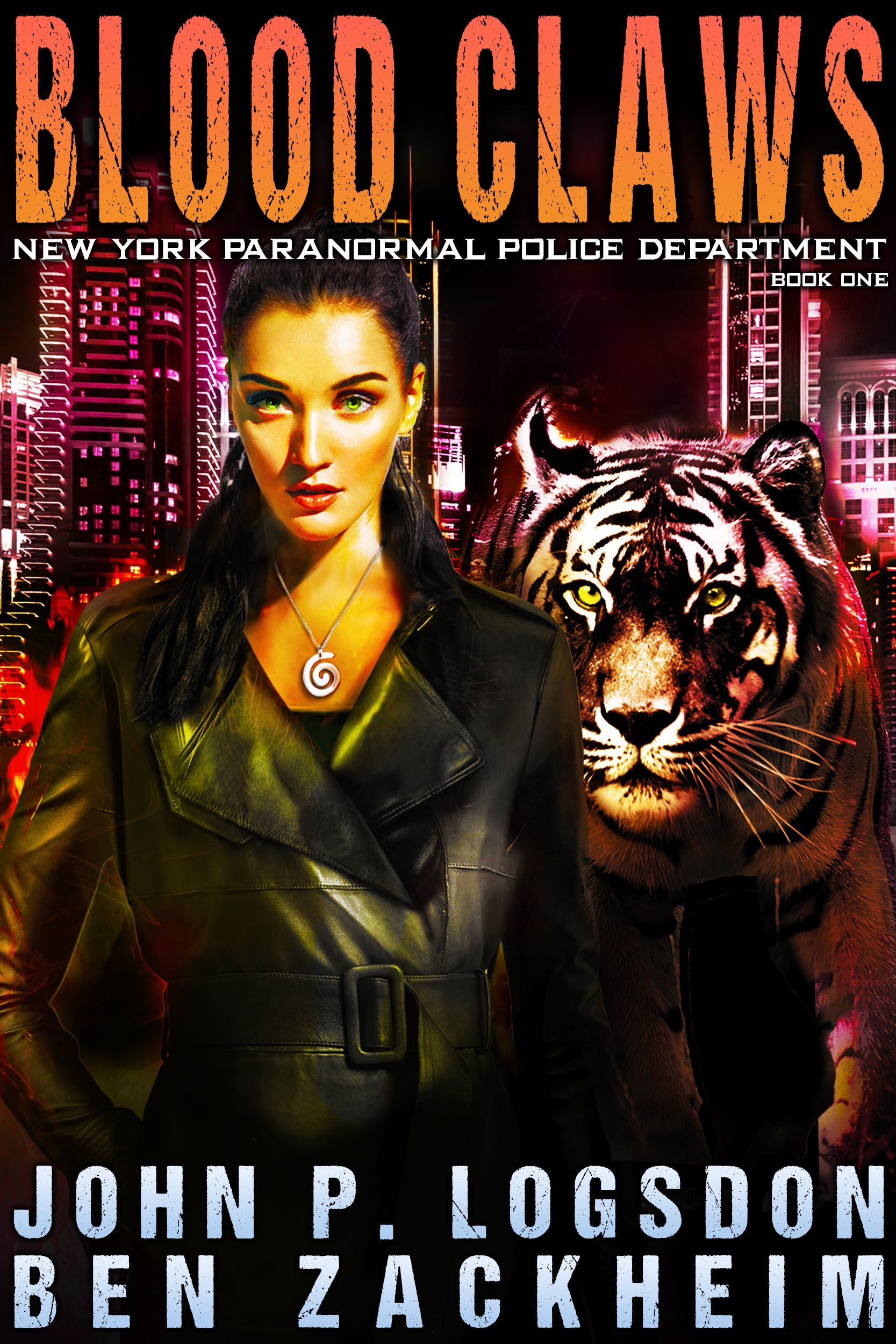 Urban Fantasy Ben Zackheim ebook cover of Bethany Black Supernatural Detective with her altered tiger form.