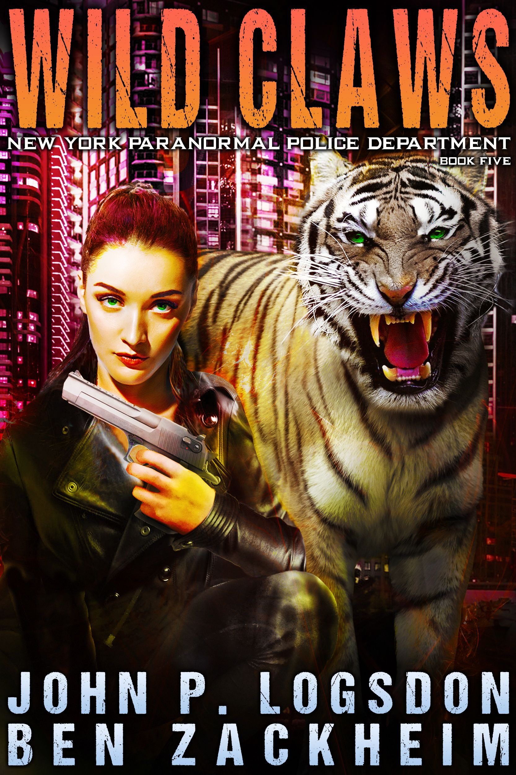 Bethany Black and her alter ego tiger stand ready for battle
